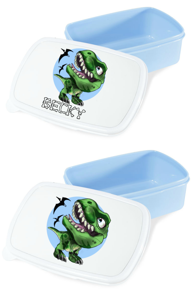 T Rex Lunch Box RRP £12.99 - Can be personalised
