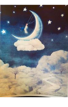 Moon Land A4 Print