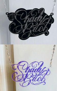 Shady Bitch Swirl Necklace