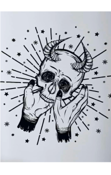 Demon Skull A4 Print