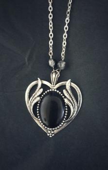 My Little Black Heart Necklace