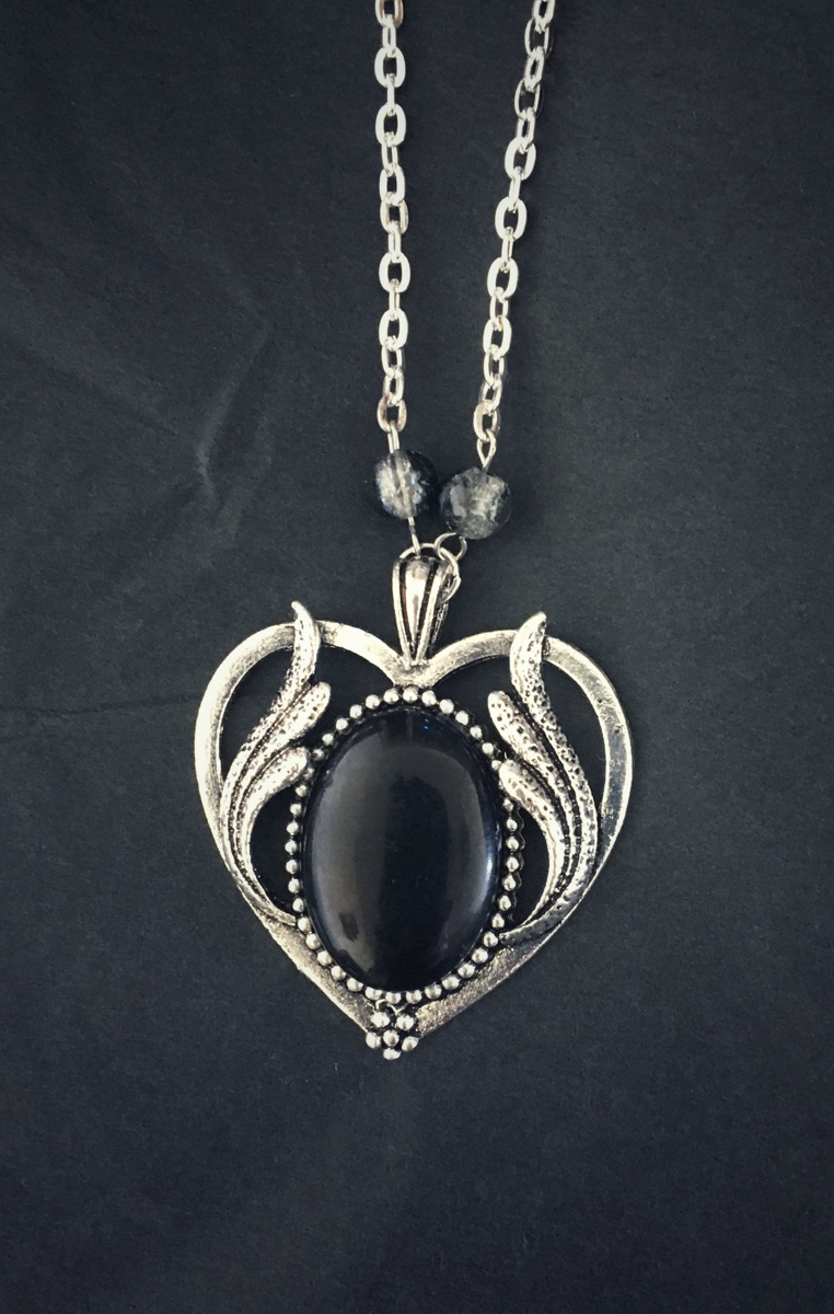 My Little Black Heart Necklace