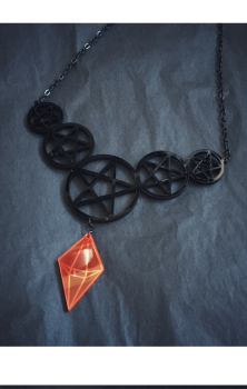 Powerful Pentacles Necklace