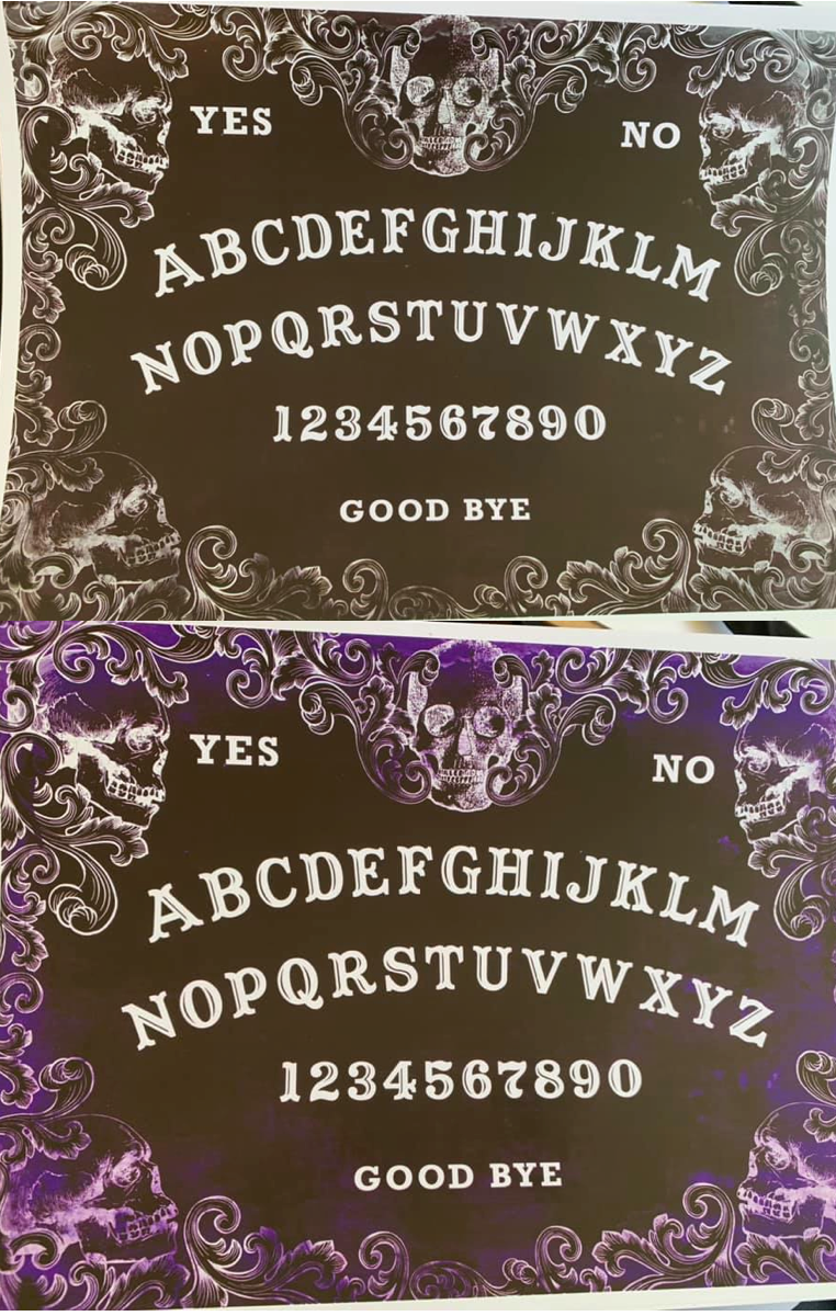 OUIJA 5 COLOURS AVAILABLE A4 Print RRP £4.99