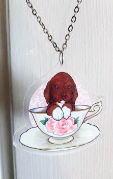 Chocolate Labrador Necklace RRP £6.99