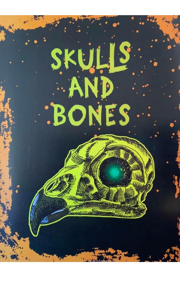 Skulls And Bones A4 Print RRP £4.99