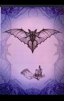 Witchcraft Bat A4 Print