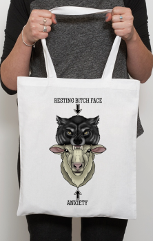 Bitch VS Anxiety Tote Bag
