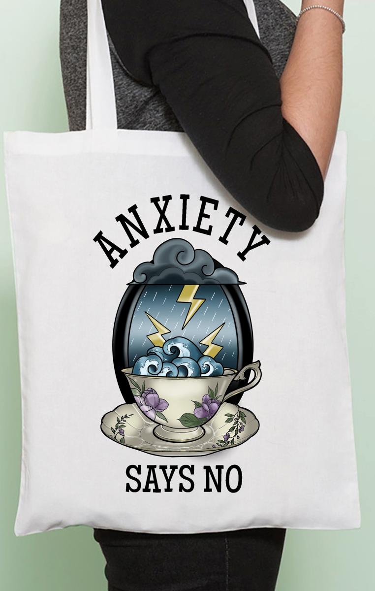 Anxiety Says No Tote Bag RRP £9.99
