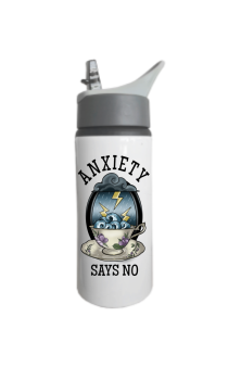 Anxiety Says No Flip Up Water Bottle