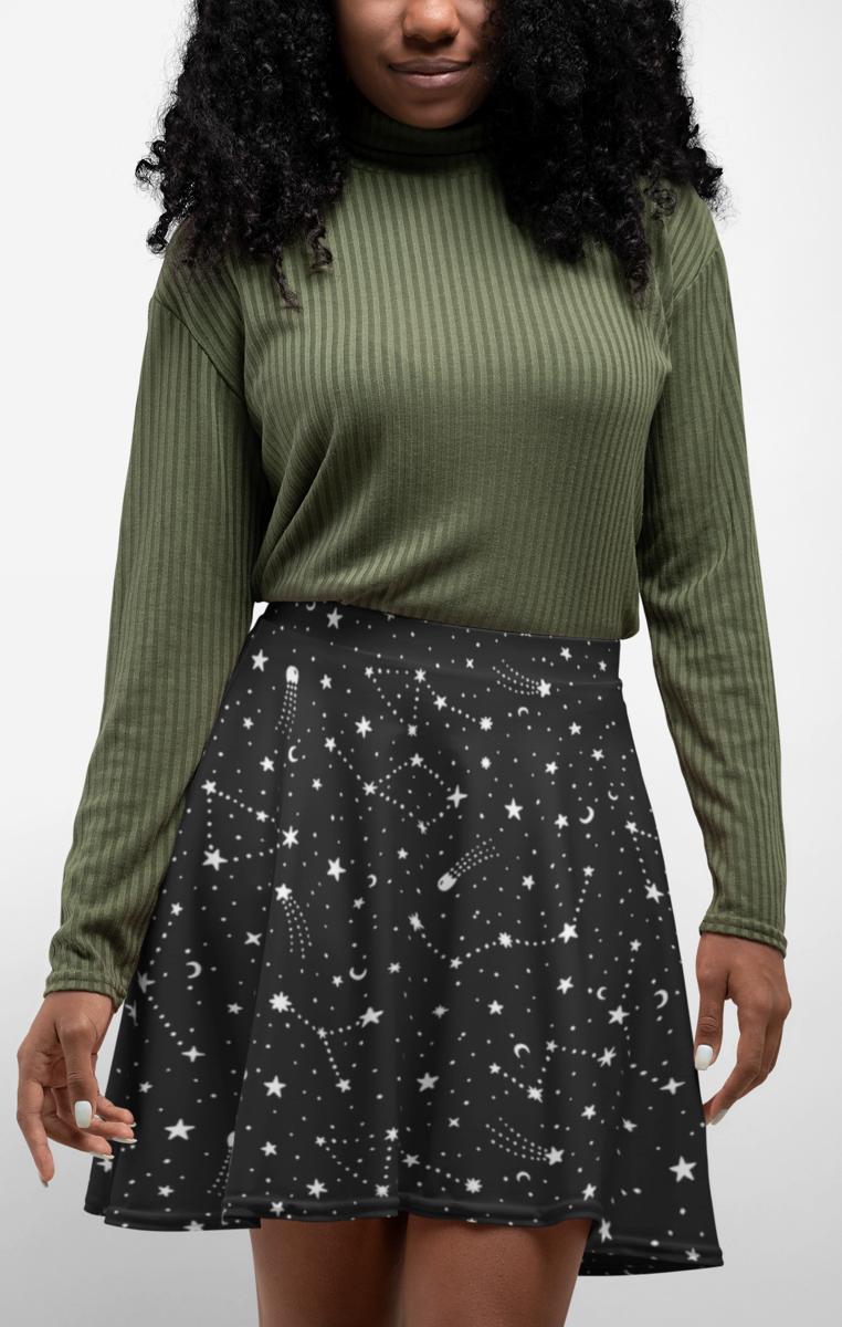 Written In The Stars Skater Skirt