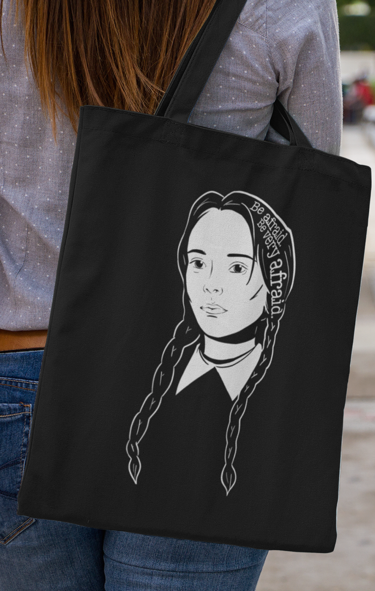 Wednesday Icon Tote Bag - Black or White available RRP £9.99