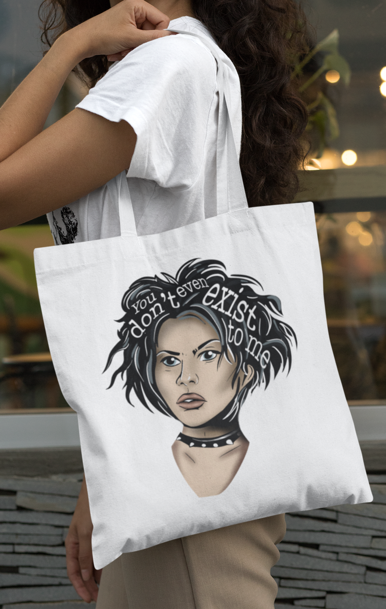 Nancy Icon Tote Bag - Black or White available RRP £9.99