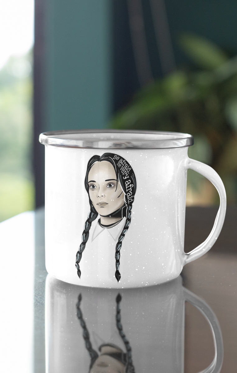 Wednesday Icon Enamel Mug RRP £9.99