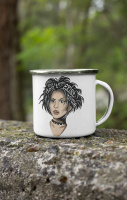Nancy Icon Enamel Mug