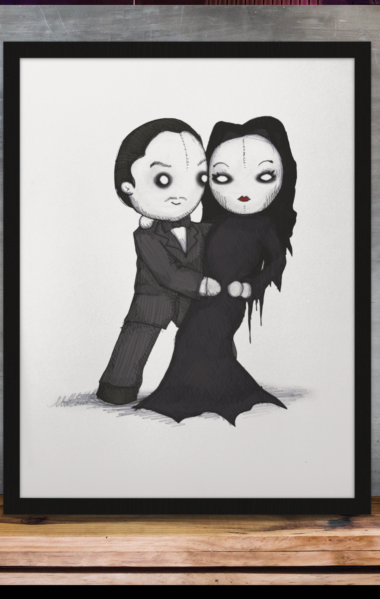 Spooky Love A4 Print RRP £4.99-£9.99