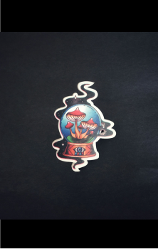 Crystal Ball Tattoo Pin Badge