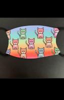 Rainbow Kitty Face Face Mask