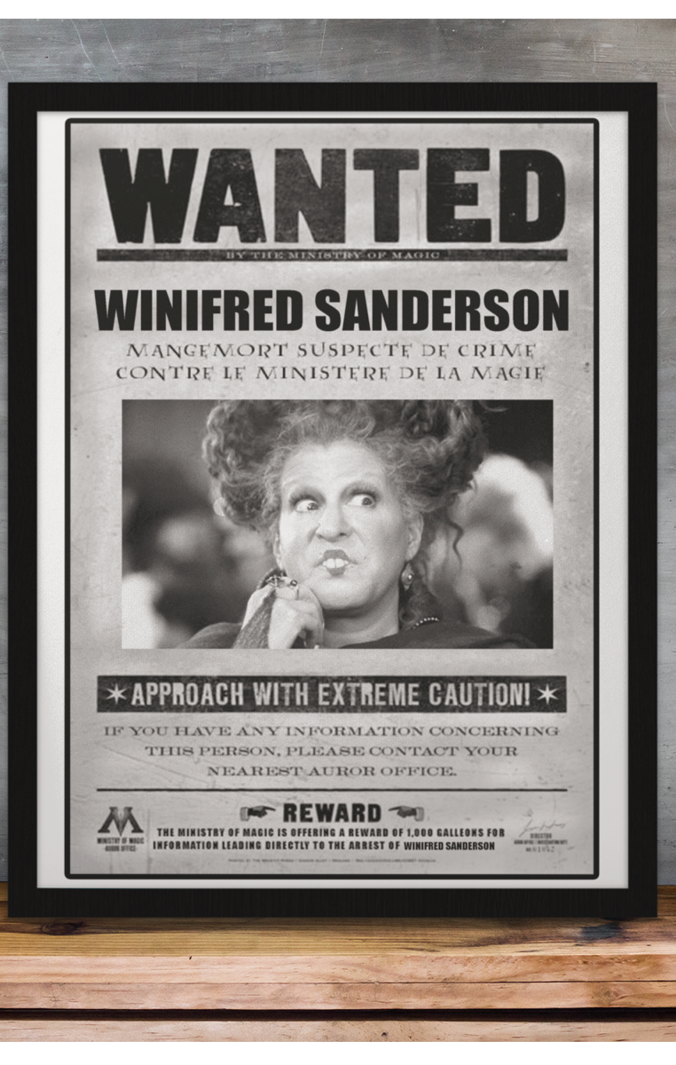 Wanted Winifred Sanderson A4 Print RRP £4.99-£9.99