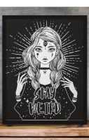 Stay Weird A4 Print RRP £4.99-£9.99