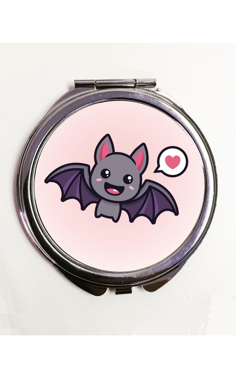 Cute Bat Compact Mirror