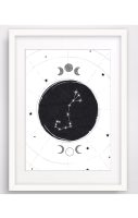 Zodiac Constellation A4 Print