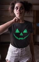 Pumpkin Face Tshirt Green