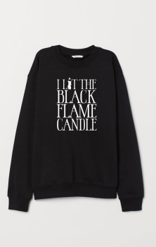 Black Flame Candle Sweatshirt