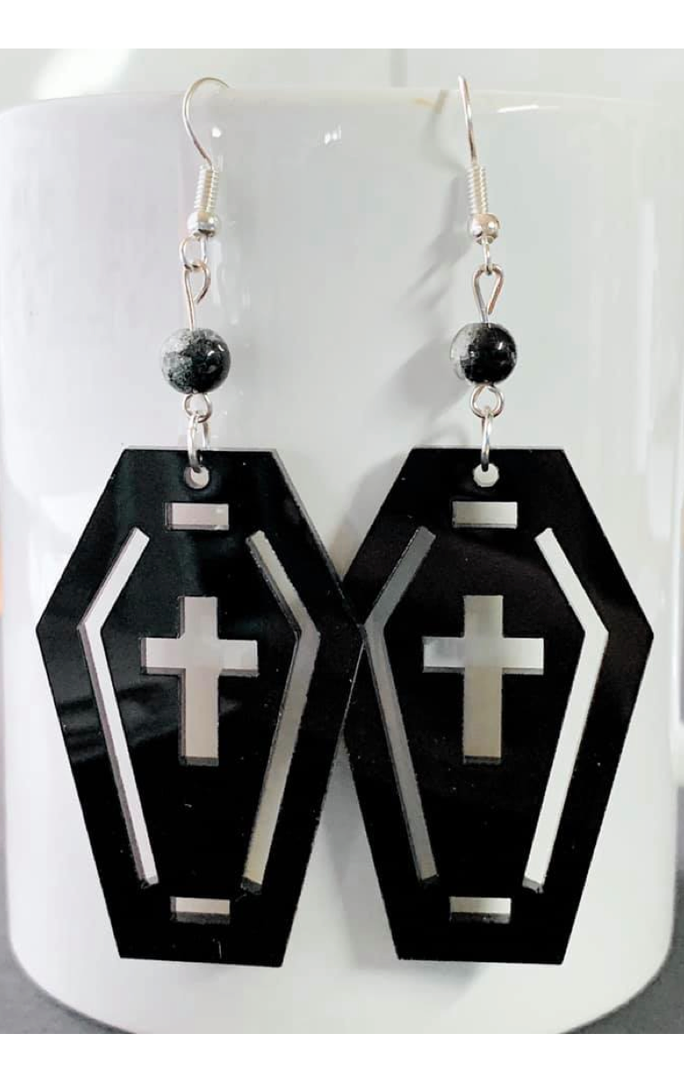 Coffin Crackle Earrings RRP £7.99