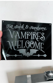 Vampires Welcome Sign