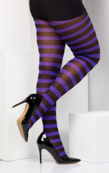 Stripe Tights Purple #307