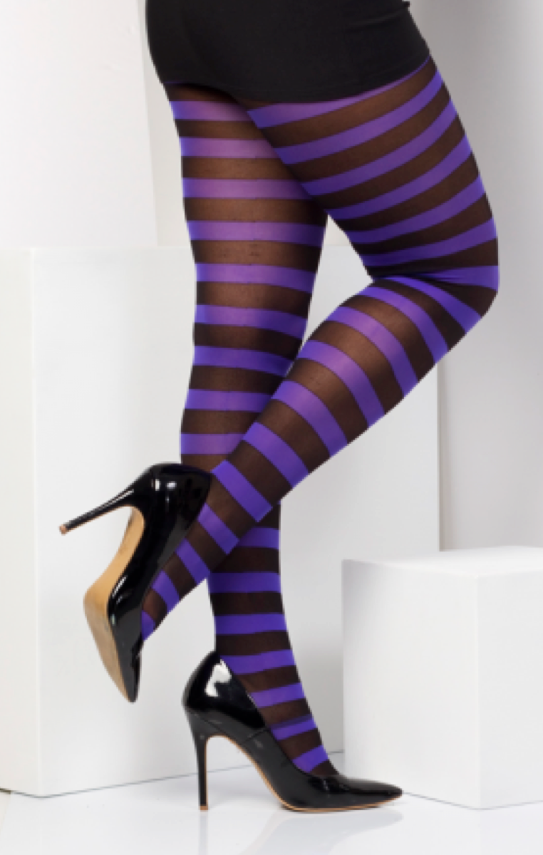 Stripe Tights Purple