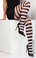 Stripe Tights White #308