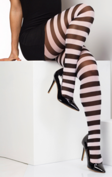 Stripe Tights White #308