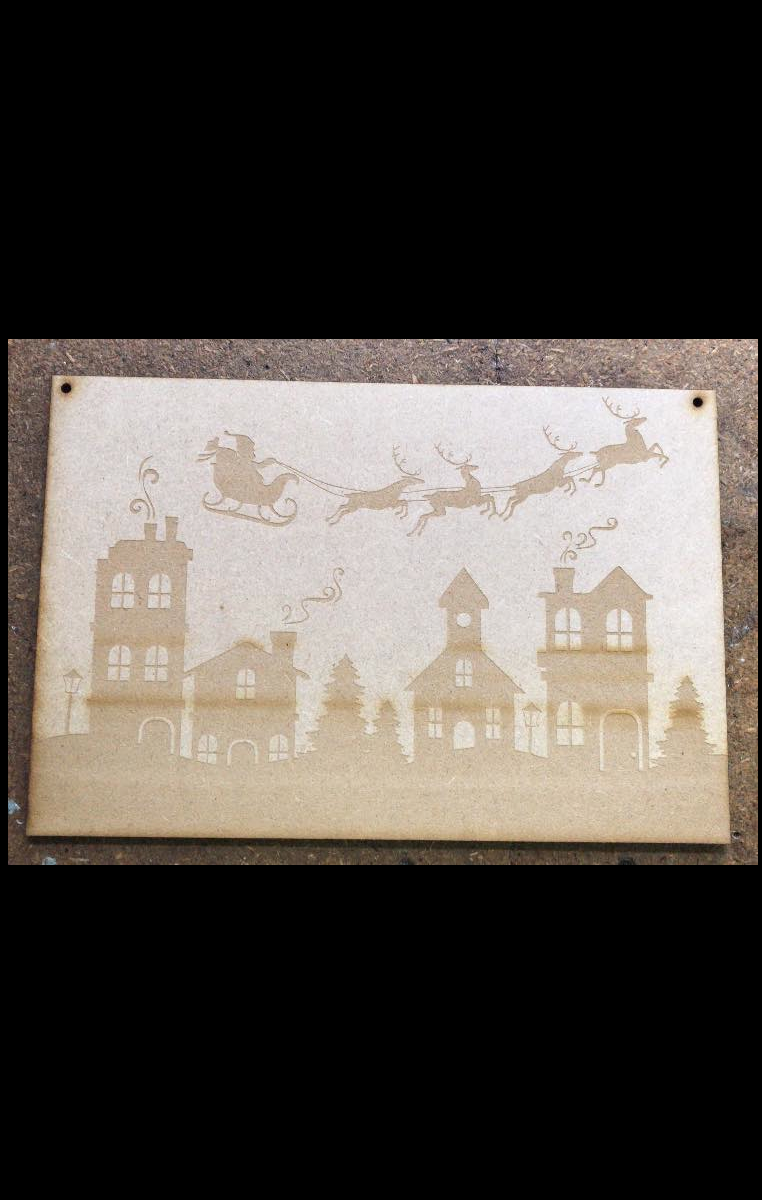 Santa Scene - Decorate it yourself