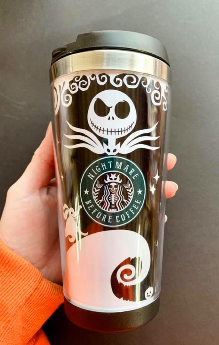 Nightmare Before Coffee Travel Mug
