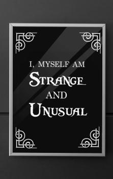 Strange Quote Print