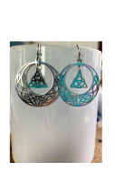 Celtic Moon Earrings Silver