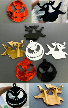 Jack & Zero Decorations (set of 2)