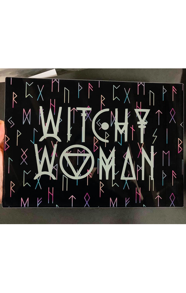 Witchy Woman Glass Chopping Board