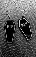 RIP Coffin Earrings