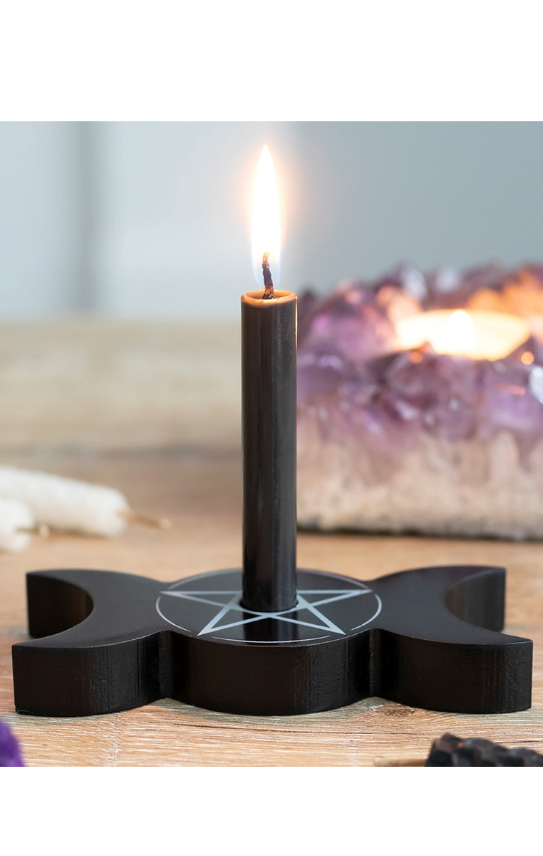 Triple Moon Spell Candle Holder