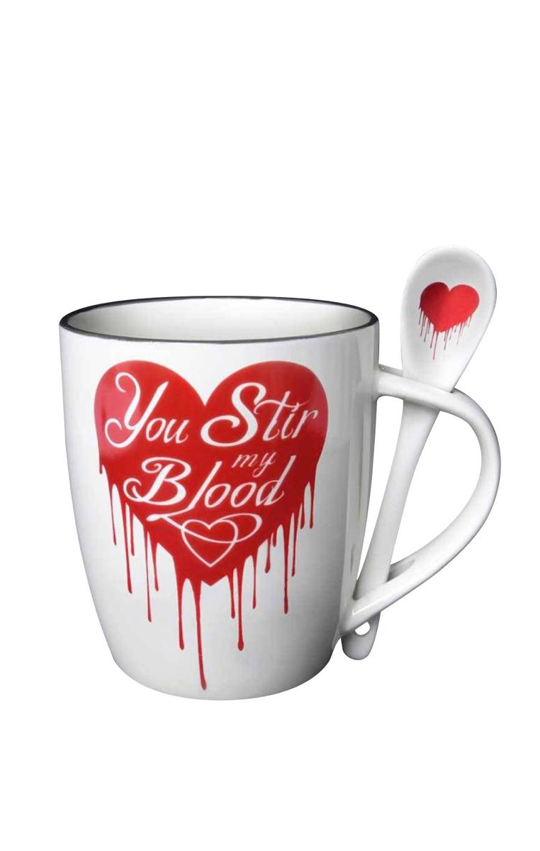 You Stir My Blood Mug & Spoon Set