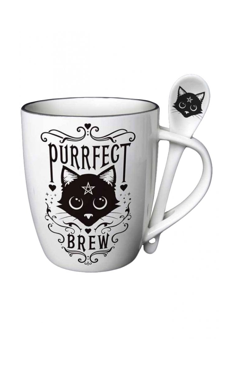 Purrfect Brew Me Mug & Spoon Set