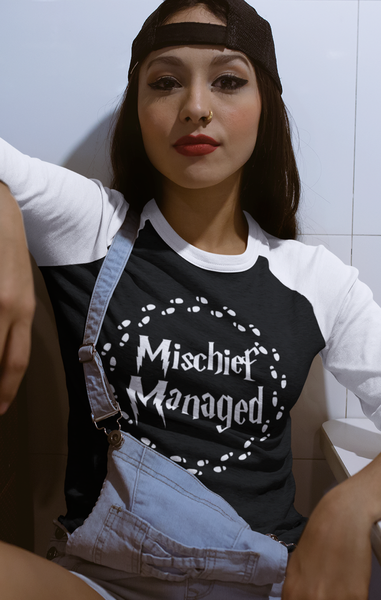 Mischief Managed Raglan BE100
