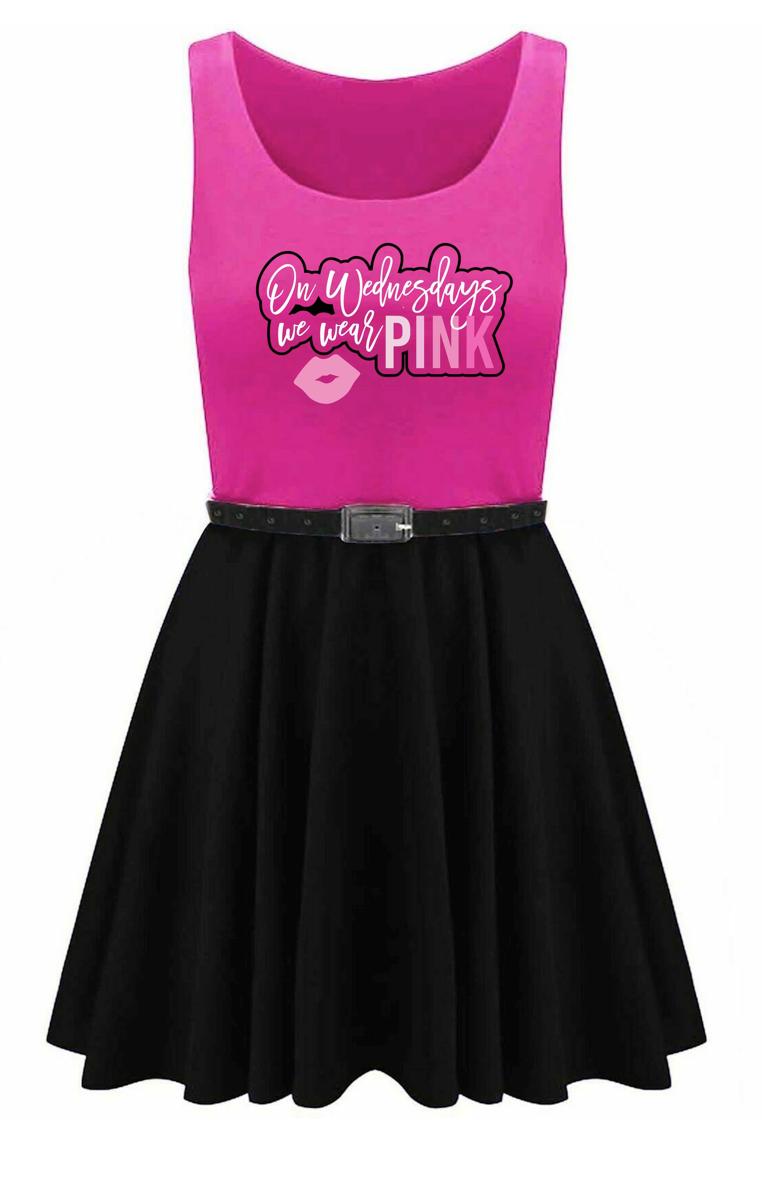 On Wednesday We Wear Pink Skater Dress