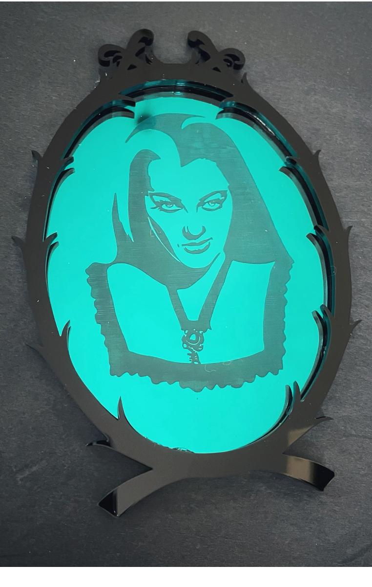 Lily Icon Mirror Art