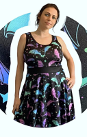 Xanadu Skater Dress - Capped or Vest Sleeves