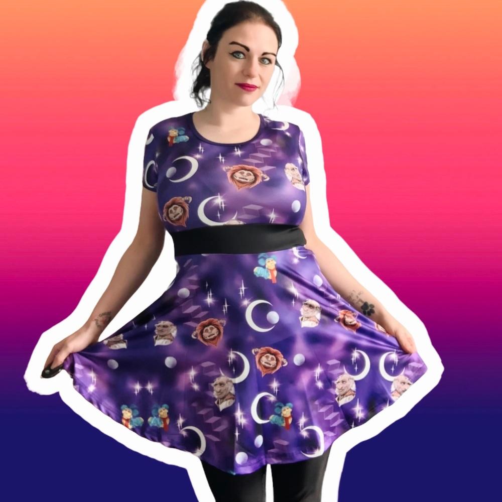 Labyrinth Skater Dress - Capped or Vest Sleeves