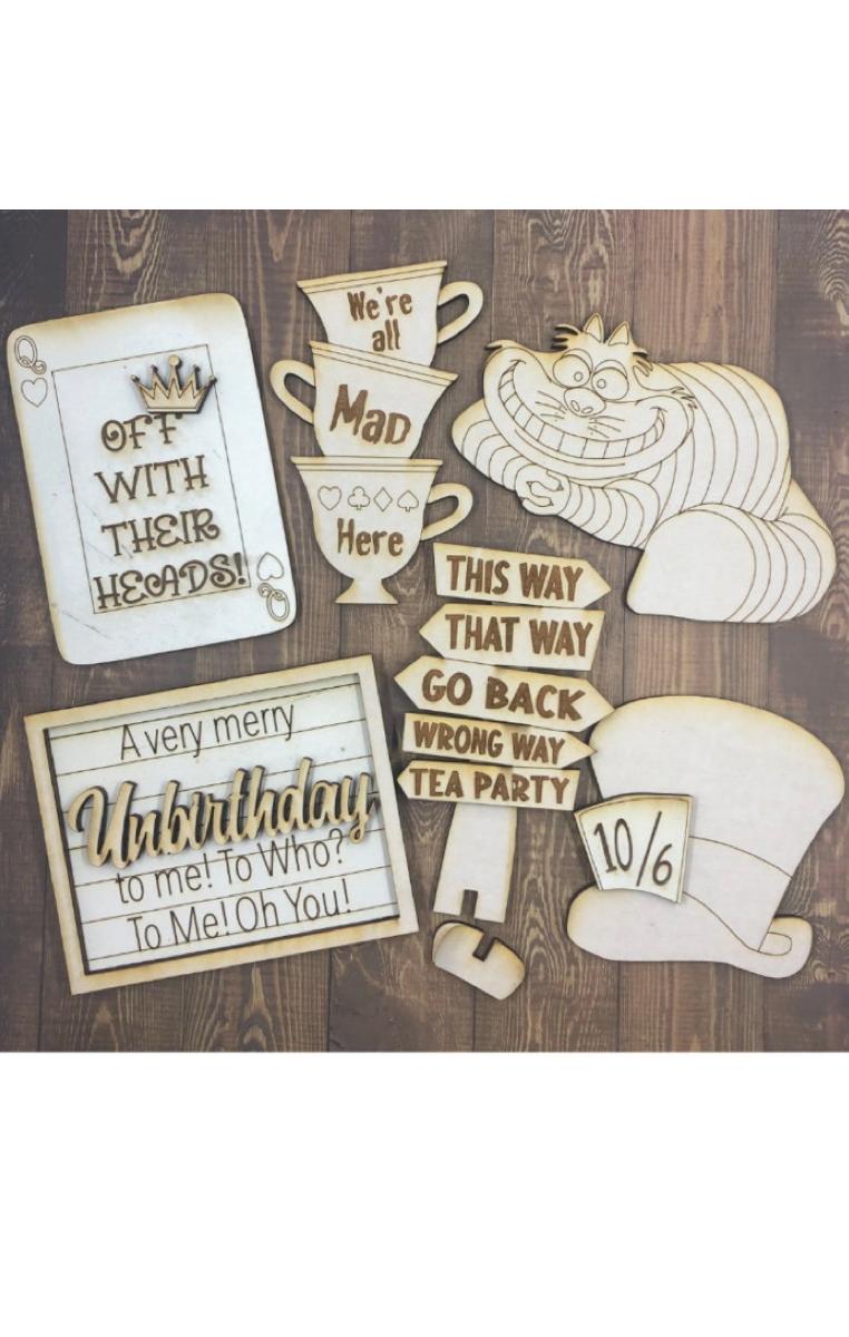 Wonderland Plaques